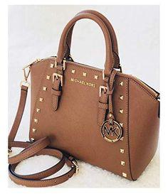 0f8b6b5dec878 Michael Kors Ciara Studded Medium Messager Leather Bag Luggage