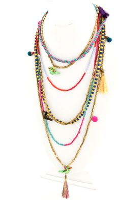 Eclectic Multi Strand Charm Necklace | Accessory Concierge