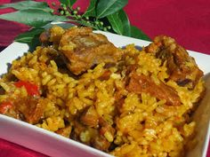 Los fogones de Ana Sevilla: Arroz con costillas olla GM Cuban Recipes, Rice Dishes, Savoury Dishes, Fried Rice, Risotto, Tapas, Cooker, Minis, Pork