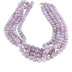 KUNZITE BEADS Round 8mm Pink Lavender from New World Gems