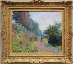 W 288 - Claude Monet - The sheltered path [1873] Philadelphia MA -