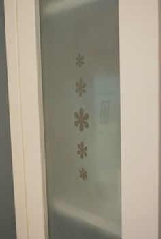 frosted glass cabinet door ... diy trying on our cabinets