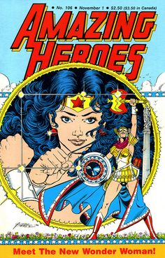 Amazing Heroes 106 Wonder Woman cover by George Perez by giantsizegeek, via Flickr