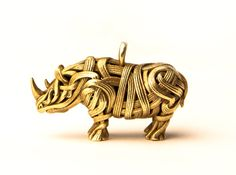 Check out The Rhino Pendant  by Genghis on Shapeways and discover more 3D printed products in Jewelry.