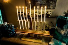 Happy Hannukah In July! This wooden menorah is perfect for any tabletop. For more great DIY's watch Home & Family weekdays at 10a/9c on Hallmark Channel!