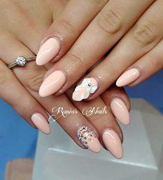 Νυφικά νύχια με χρώμα και σχέδια 3D. Nails, Beauty, Beleza, Ongles, Finger Nails, Nail, Nail Manicure