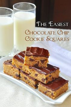 A 40+ year old family recipe. Chewy chocolate chip squares perfect for lunchboxes & after school snacks. An ideal recipe for cookie swaps & for the freezer.