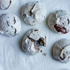 Chocolate Chip Espresso Meringues | These large, crisp and chewy meringues are made with just enough espresso and bittersweet chocolate to keep them from being overly sweet.
