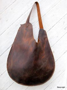 Rustic Distressed Leather Bag $315 Stacy Leigh