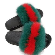 cf25b568ddb8 Fox Hair Slippers Women Fur Home Fluffy Sliders Plush Furry Summer Flats  Sweet Ladies Shoes Large Size 45 Hot Sale Cute Pantufas - Dressspring