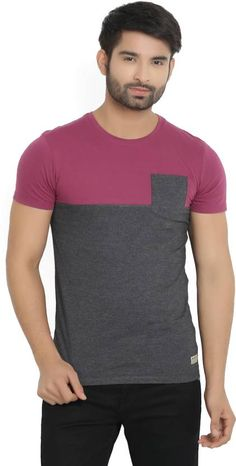 929ffe5b7220 Peter England University Solid Men s Round Neck Grey T-Shirt