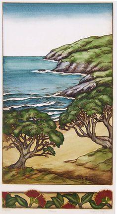 New Zealand prints at Art by the sea, fine art gallery in Devonport, Auckland, New Zealand New Zealand Landscape, New Zealand Art, Nz Art, Kiwiana, Amazing Street Art, Rare Birds, Landscape Paintings, Landscapes, Coastal Art