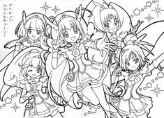 Free coloring pages of smile anime