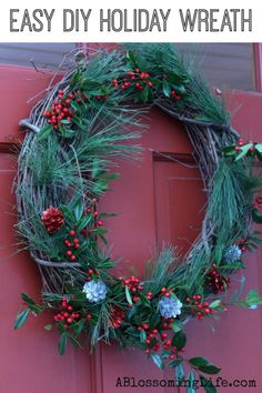 How to Make a Wreath with this easy #DIY wreath tutorial. Made with only a few simple materials!