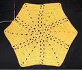 Sun Rays Crocheted Hexagon Motif Pattern and 6 other free hexagon crochet patterns