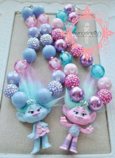 Trolls chunky necklaces