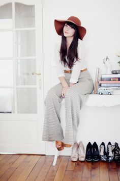 perfect hair, hat, shoes, & pants. love.