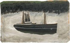 Alfred Wallis     1855–1942 British naive painter of sailing ships and landscapes. He went to sea as a cabin boy and cook at the age of 9, and from about 1880 worked as a fisherman in Cornwall. In 1890 he opened a rag-and-bone store in St Ives and after retiring from this did odd jobs, including selling ice cream.
