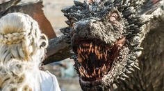"""Drogon greets his mother Daenerys in Season 5, Episode 9: The Dance of Dragons"""""""