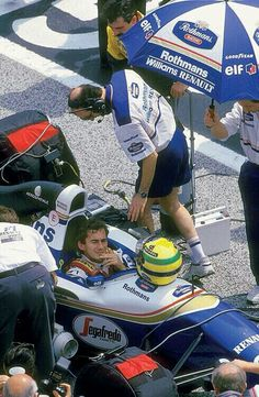 Ayrton Senna, before the start of the San Marino GP, Imola, 1994. If only he knew!!!