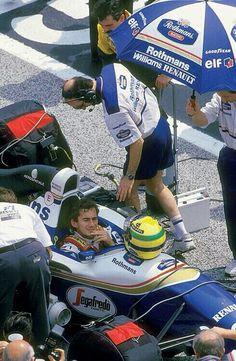 Ayrton Senna, before the start of the San Marino GP, Imola, 1994. If only he knew!!!