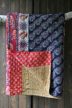 KANTHA BEDSPREAD 4 by Maya Gorgeous vintage sari bedspread made by women who have survived sex trafficking in Bangladesh £165 Decorator's Notebook (free delivery)