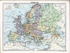 Europe, 1919, after the First World War. The turbulent inter-war years begin.