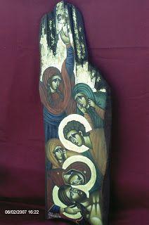 Distortion Art, Greek Icons, Holy Family, Orthodox Icons, Sacred Art, Christian Art, Religious Art, Ethiopia, Painting On Wood