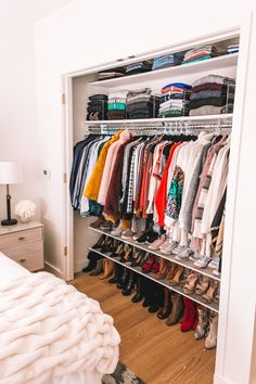 Organizing My NYC Apartment - Welcome to Olivia Rink - Closet Organization - Or. Organizing My NYC Apartment - Welcome to Olivia Rink - Closet Organization - Organizing My NYC Apartment – Welcome to Olivia Rink - Room Ideas Bedroom, Small Room Bedroom, Closet Bedroom, Tiny Bedrooms, Bed In Closet, Dream Teen Bedrooms, Very Small Bedroom, Tiny Bedroom Design, Entryway Closet