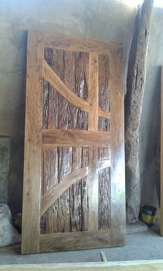 a door made from Molave wood; hard wood from South East Asia