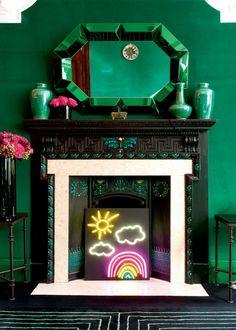 Une cheminée qui se met au vert