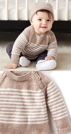 Free Knitting Pattern für Easy Baby Telemark Pullover 16 Free baby sweater knitting patterns you will love to knit! Knitting patternsfor pullovers and jumpers vary in sizes from newborn up to 24 months. Free Baby Sweater Knitting Patterns, Baby Booties Free Pattern, Knitting For Kids, Free Knitting, Knit Patterns, Knitting Projects, Knitting Ideas, Stitch Patterns, Crochet Baby Sweater Pattern