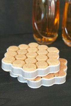Coaster Wine Cork Crafts   How to make DIY coasters out of old wine corks.