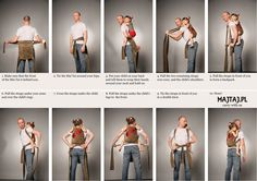 How to tie a Mei Tai Baby Sling on your back
