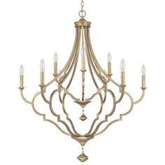 Quinn Brushed Goldtone 9-light Chandelier | Overstock™ Shopping - Great Deals on Capital Lighting Chandeliers & Pendants