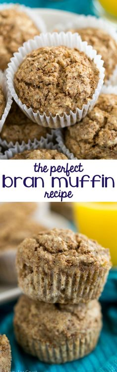 This is the perfect Bran Muffin recipe! It's a family favorite I've been making for years. The easiest muffin and so much healthier!