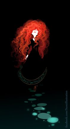 Ariel was my favorite as a kid (based on her red hair AND her fins) now Merida has been added to my list of faves.  It couldn't be a list until now because there was only 1 red.