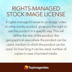 Rights-Managed #StockImage License