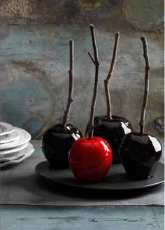 Decadently Dark Candy Apples and Country Living's Spooky