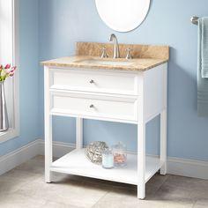 """30"""" Wynne Vanity for Rectangular Undermount Sink - White"""