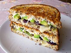brie, grape & avocado grilled sandwich
