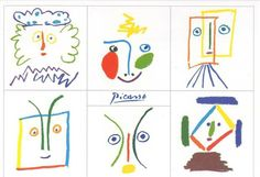 roll a picasso Kunst Picasso, Art Picasso, Kindergarten Art, Preschool Art, Kinds Of Lines, Craft Museum, Art Mat, Spanish Art, Ecole Art