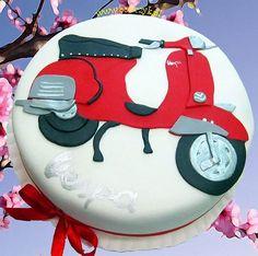 #Vespa, #skuter, #cake, #tort, #Vespacake, #Vespatort, www.bonczyk.pl