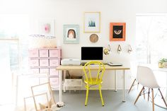 colorful  office style #glitterguide