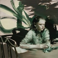 Lars Elling, The Student, 2015, Öl auf Leinwand/Oil on canvas, 100 x 100 cm
