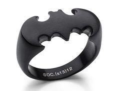 Batman Ring in Matte Black - $28