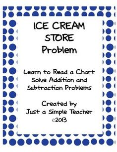 In this activity students will find information in a chart, add and subtract multiples of 10, and solve story problems.