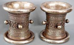 Massive cuffs, silver , Shan work early 20th c (Linda Pastorino)