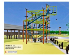 Zip The Grand...imagine climbing a ropes course and then zip lining across the Grand River in Grand Rapids Michigan!