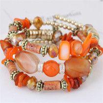 Beaded Wrap Bracelets, Memory Wire Bracelets, Bohemian Bracelets, Fashion Bracelets, Fall Jewelry, Boho Jewelry, Beaded Jewelry, Jewelry Ideas, Diy Jewellery